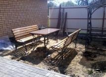 кованые столы для сада